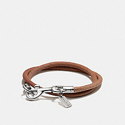 DOGLEASH DOUBLE WRAP CORD BRACELET - f96880 - SILVER/NATURAL