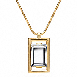 COACH F96883 Square Pendant Necklace