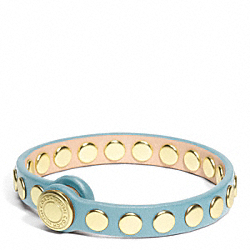 COACH F96894 Skinny Stud Leather Bracelet