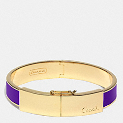 COACH F96908 Half Inch Thin Hinged Lozenge Bangle RSD0G