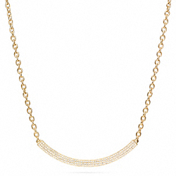 GOLD AND PAVE BAR NECKLACE - f96915 - F96915GDCY