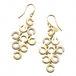 OP ART CHANDELIER EARRINGS - f96916 - F96916GDCY