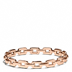 FLAT CHAIN LINK BANGLE - f96924 - ROSEGOLD