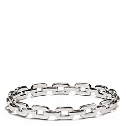 COACH FLAT CHAIN LINK BANGLE - SILVER - F96924
