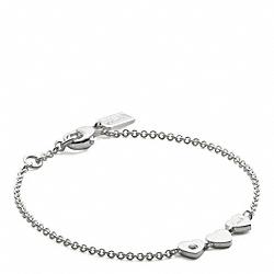 COACH F96932 Sterling Heart Station Bracelet SILVER/SILVER