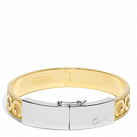 COACH F96961 TWO TONE HINGED BRACELET ONE-COLOR