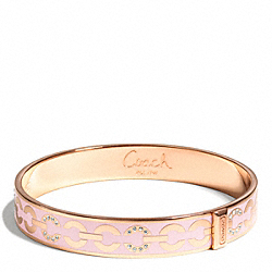 COACH F96965 Thin Op Art Pave Bangle