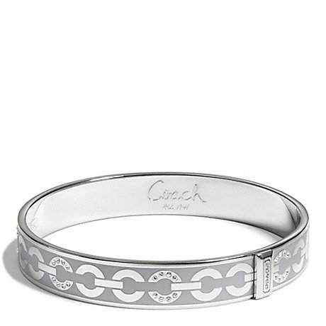 COACH f96965 THIN OP ART PAVE BANGLE SILVER/GREY