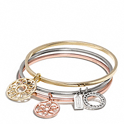 COACH F96967 Signature C Disc Bangle Set