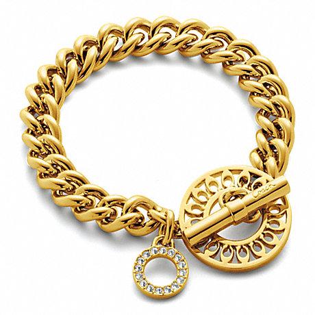 COACH f96977 TOGGLE BRACELET GOLD/GOLD