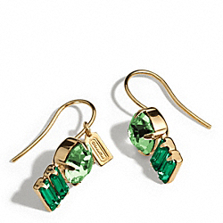 COACH F96986 Double Drop Stone Earrings