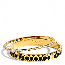 COACH F96987 Signature C Pave Bangle Set