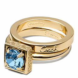 COACH F96990 - STONE STACKING RING ONE-COLOR
