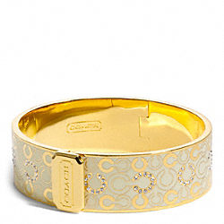 COACH F96998 - THREE QUARTER INCH HINGED OP ART BANGLE ONE-COLOR