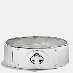 COACH F99522 Small Turnlock Plaque Bracelet SILVER