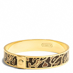 COACH F99543 Half Inch Ocelot Bangle