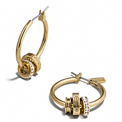 COACH RONDELLE HOOP EARRING - ONE COLOR - F99550