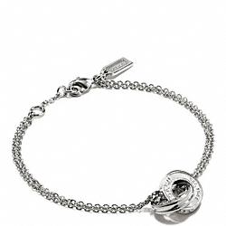 COACH F99551 Linked Rondelle Bracelet SILVER/SILVER