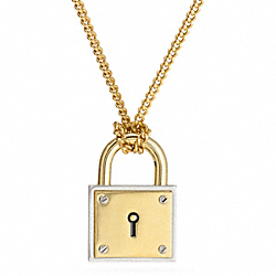 COACH F99582 Padlock Long Necklace MULTICOLOR