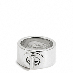 COACH TURNLOCK RING - SILVER - F99627