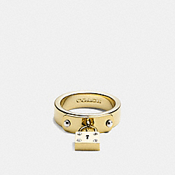COACH MINI PADLOCK BAND RING - MULTICOLOR - F99691