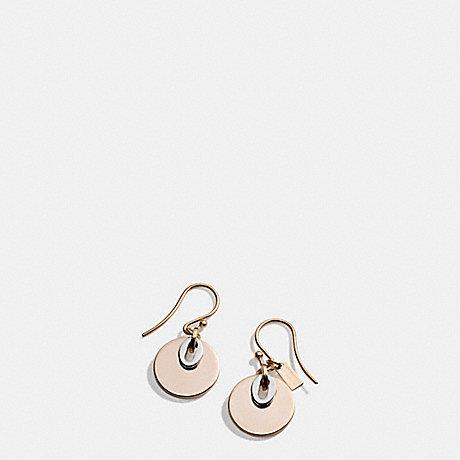 COACH TWO TONE DISC DROP EARRINGS - MULTICOLOR - f99693