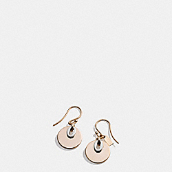 TWO TONE DISC DROP EARRINGS - f99693 - MULTICOLOR