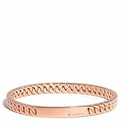 COACH CURBCHAIN PLAQUE BANGLE - ROSEGOLD - F99695
