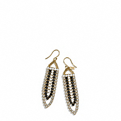 COACH F99711 Chandelier Cupchain Earrings GOLD/BLACK