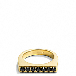 COACH F99716 Single Cupchain Band Ring GOLD/BLACK