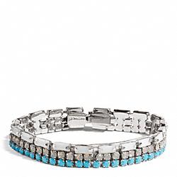 SKINNY CUPCHAIN BRACELET - f99717 - SILVER/BLUE