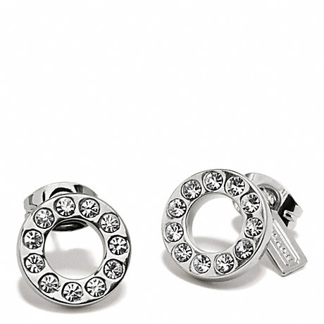 COACH f99734 PAVE STUD EARRING SILVER/SILVER