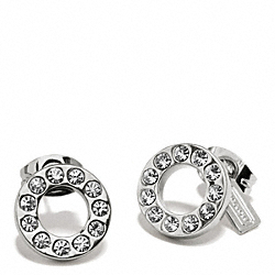 COACH F99734 - PAVE STUD EARRING SILVER/SILVER