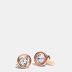 COACH F99737 - HALO STUD EARRINGS  ROSEGOLD/CLEAR