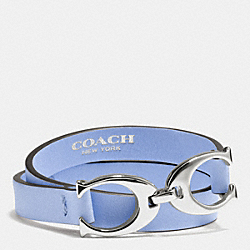 COACH F99792 - TWIN SIGNATURE C DOUBLE WRAP LEATHER BRACELET SVCL1