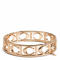 COACH F99794 - PIERCED SIGNATURE C BANGLE GOLD