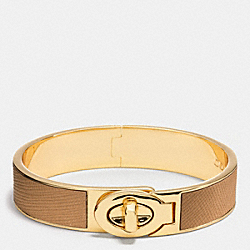 COACH F99864 - HALF INCH HINGED SAFFIANO LEATHER TURNLOCK BANGLE D0E