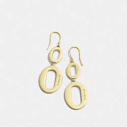 COACH F99879 - OVAL LINK DROP EARRINGS GOLD