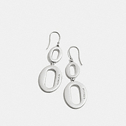 COACH F99879 - OVAL LINK DROP EARRINGS SILVER
