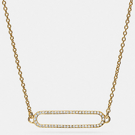 COACH f99885 PAVE ID SHORT NECKLACE GOLD/CLEAR