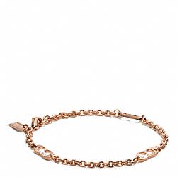 COACH F99895 Kissing C's Bracelet  ROSEGOLD