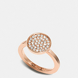 COACH F99943 Pave Disc Ring ROSEGOLD