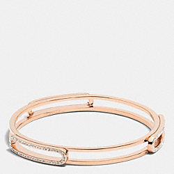 COACH F99968 - PAVE ID BANGLE  RESIN/CLEAR