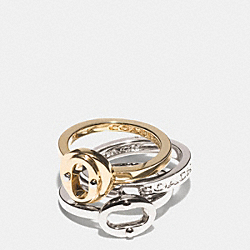 COACH F99974 - MULTI OVAL RING SET MULTICOLOR