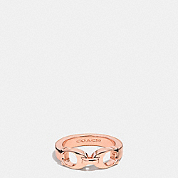 COACH SIGNATURE C LINK RING - ROSEGOLD - F99995