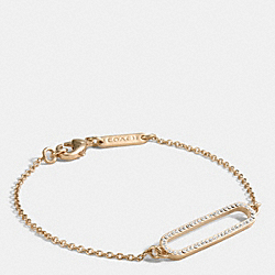 COACH F99997 - PAVE ID BRACELET GOLD/CLEAR