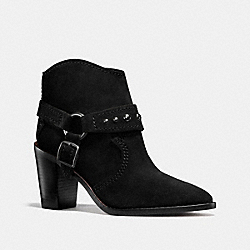 COACH FG1005 Buckle Harness Bootie BLACK
