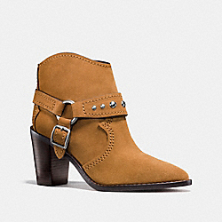 COACH FG1005 Buckle Harness Bootie CAMEL