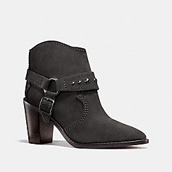 COACH FG1005 Buckle Harness Bootie GRAY