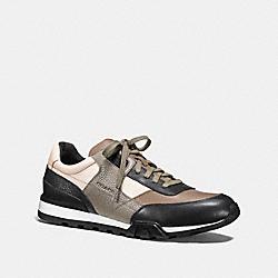 COACH FG1044 Soho Sneaker FOG/BLACK